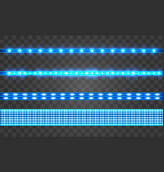 led realistic blue ribbon vector image