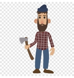 Lumberjack cartoon icon vector image