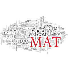 mat word cloud concept vector image