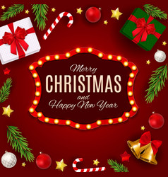 Merry christmas and new year background vector