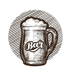 Mug of beer symbol Cold and fresh ale icon vector