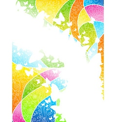 Multicolored flowery background vector