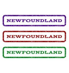 Newfoundland watermark stamp vector