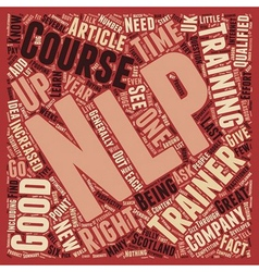 NLP Trainers How To Find A Good One text vector