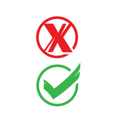 no yes signs vector image