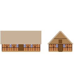 Old barns set vector image