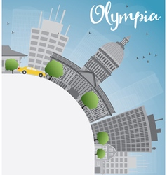 Olympia Washington Skyline with Grey Buildings vector