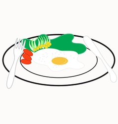 Omelet Breakfast vector image