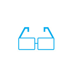 optical glasses linear icon concept optical vector image