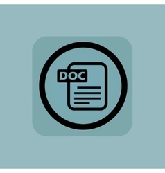 Pale blue DOC file sign vector image