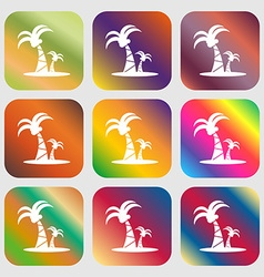 Paml icon sign Nine buttons with bright gradients vector