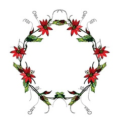 Passiflora wreath2 vector image