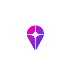 pin logo design location finder star vector image