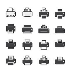 Print icon set vector