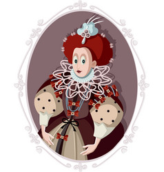 queen elizabeth i caricature vector image