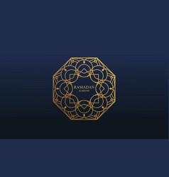 Ramadan kareem and mubarak greeting vector