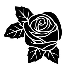 rose silhouette 003 vector image