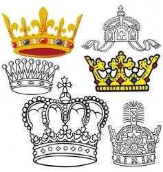 Royal crowns vector