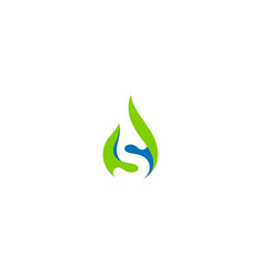 s initial droplet sign logo vector image