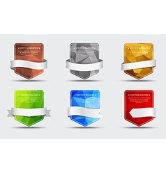 set banners with a polygonal background and vector image