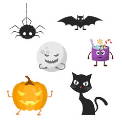 Set of characters for halloween vector