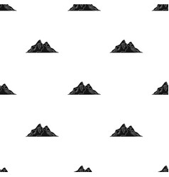 Sharp mountains on the tops of which the snow vector