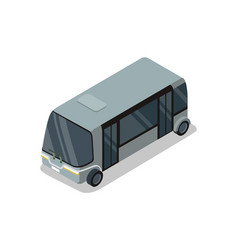 Shuttle bus isolated isometric 3d icon vector