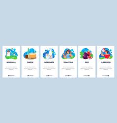 spain website and mobile app onboarding screens vector image
