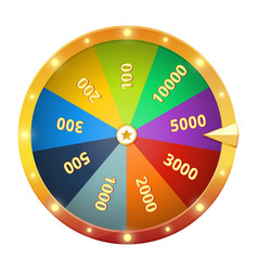 Spinning wheel with prizes game roulette vector