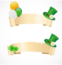 St Patrick day banners vector