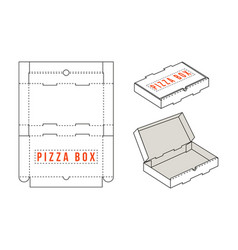 Stock rectangular box for pizza slices vector