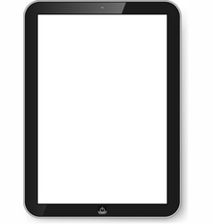 Tablet with blank screen vector