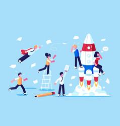 team developers beginning new startup vector image