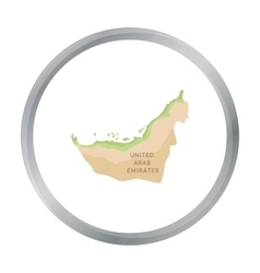 Territory of United Arab Emirates icon in cartoon vector