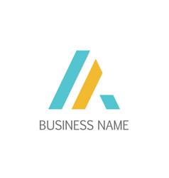 triangle line stripe company logo vector image