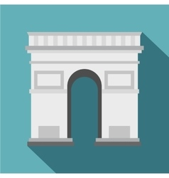 Triumphal Arch icon flat style vector image