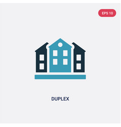 Two color duplex icon from real estate concept vector