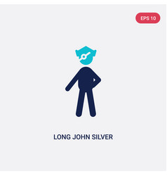 two color long john silver icon from literature vector image