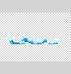 Water splash animation shock waves on transparent vector