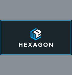We hexagon logo design inspiration vector