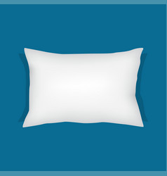 White rectangular pillow cushion vector