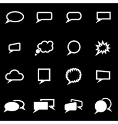 white speach bubbles icon set vector image