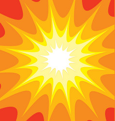 Yellow orange red explosion background vector