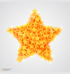 abstract bright and beautiful yellow star vector image vector image
