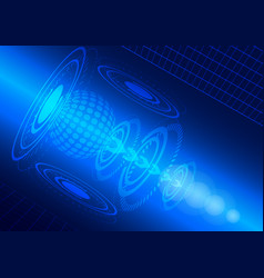 abstract digital technology blue background vector image