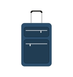 blue suitcase travel equipment vector image