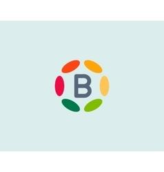 Color letter B logo icon design Hub frame vector image vector image