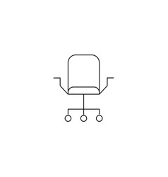 office chair or logo in modern line style high vector image
