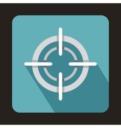 Optical sight icon flat style vector image