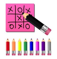 Set colored pencils vector image vector image